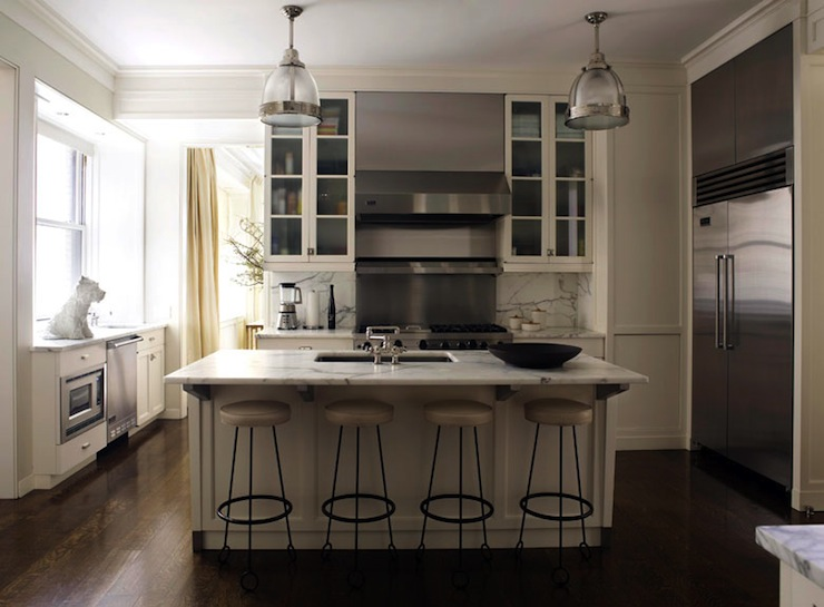 Beige Kitchen Cabinets  Contemporary  kitchen  David Kleinberg