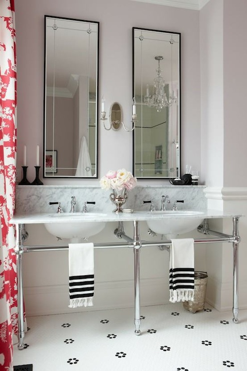 double washstand contemporary bathroom sarah richardson design