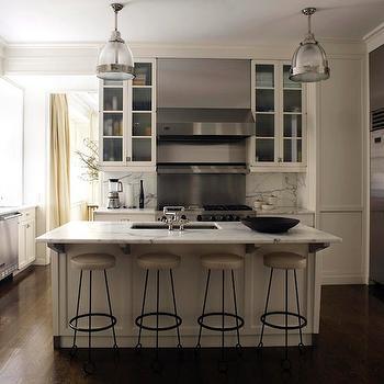 Beige Kitchen Cabinets, Contemporary, kitchen, David Kleinberg Design Associates