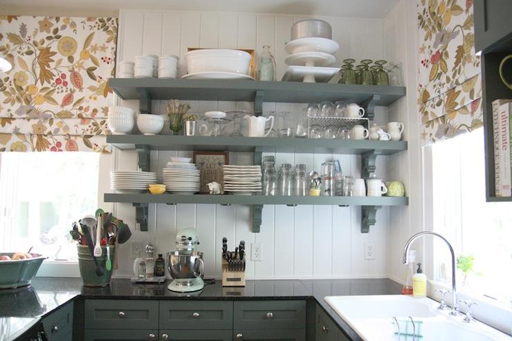 Green Beadboard Cabinets Design Ideas