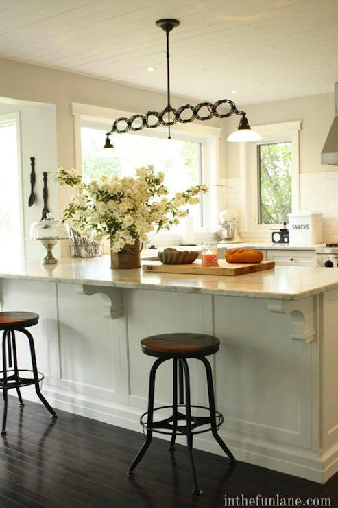 Industrial Bar Stools Cottage Kitchen In The Fun Lane