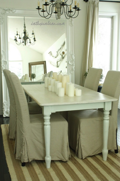 White Farmhouse Table View Full Size Shabby Chic Dining Room With