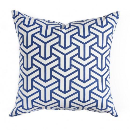 Caitlin Wilson Textiles: Cobalt Hong Kong Pillow