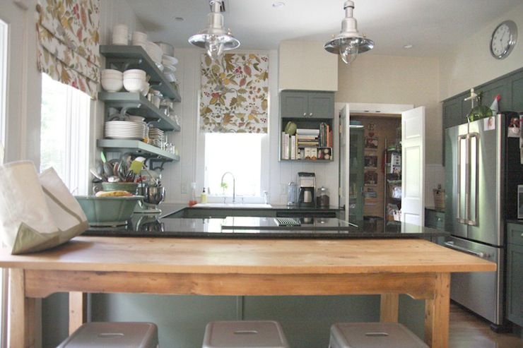 Ikea Schminktisch Im Schrank ~ Green Kitchen Cabinets  Cottage  kitchen  Sherwin Williams Rosemary