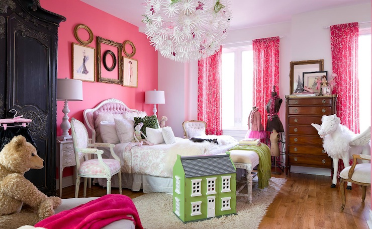 Ikea Chandelier - Transitional - girl\'s room - Brandon Barre Photography