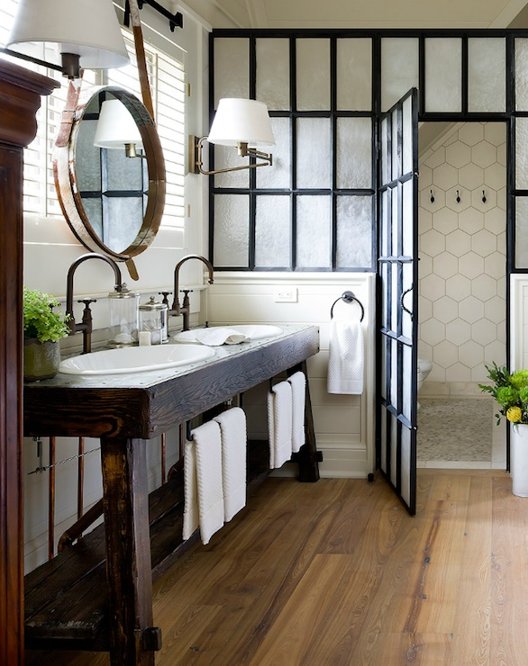 Steel Shower Door Eclectic Bathroom Brandon Barre Photography