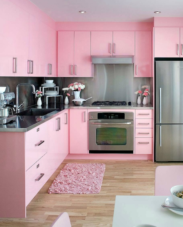 Pink Kitchen Cabinets - Contemporary - kitchen - Brandon Barre ...