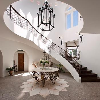 2 Story Foyer, Mediterranean, entrance/foyer