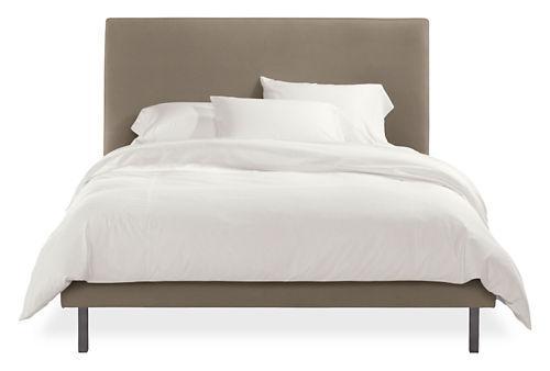 Ella Bed with Natural Steel Legs, Beds, Bedroom, Room & Board