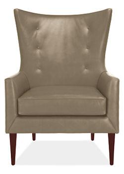 Louis Leather Chair & Ottoman, Chairs, Living, Room & Board