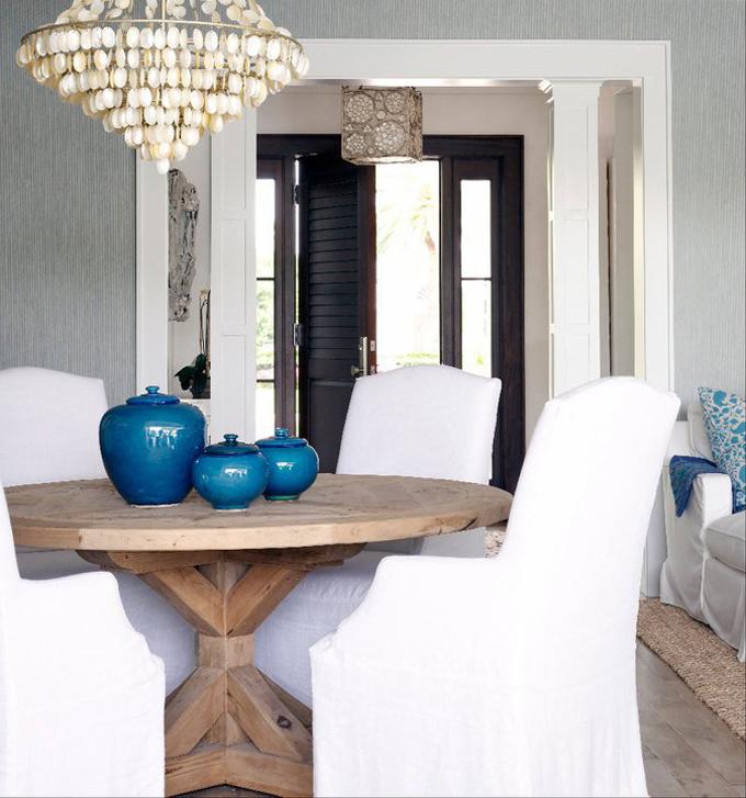 Elegant Dining Room Chandeliers: Capiz Chandelier Design Ideas