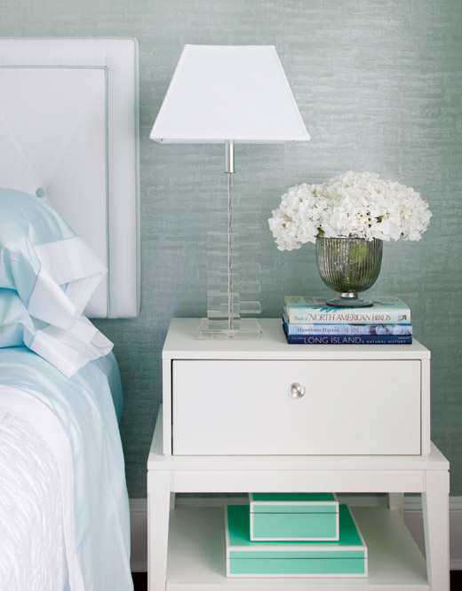 Tiffany Blue Lacquer Box Contemporary bedroom Patricia