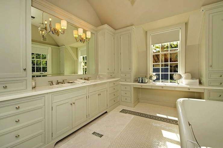 Monochromatic Bathroom Traditional Bathroom Pricey Pads