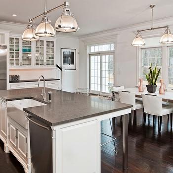 gray island with granite countertops design ideas