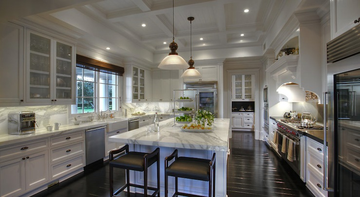 Coffered Ceiling Kitchen Traditional Kitchen Pricey Pads
