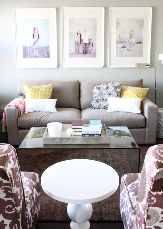 Gray and purple living room contemporary living room for Gray purple living room ideas
