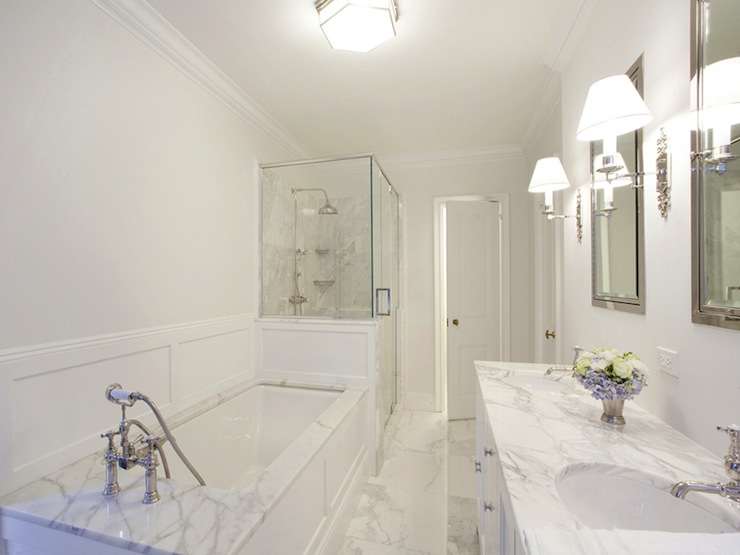 Modern Master Bathroom With Corian Counters Drop In: Drop In Tub Ideas