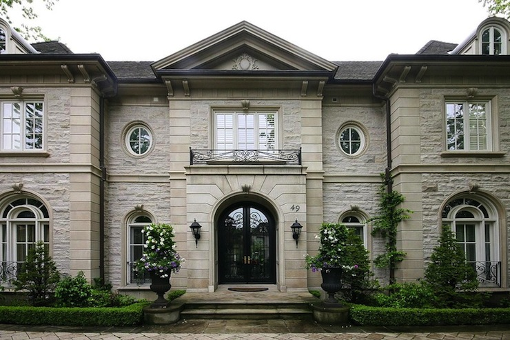 Stone mansion french home exterior pricey pads for House and home exteriors