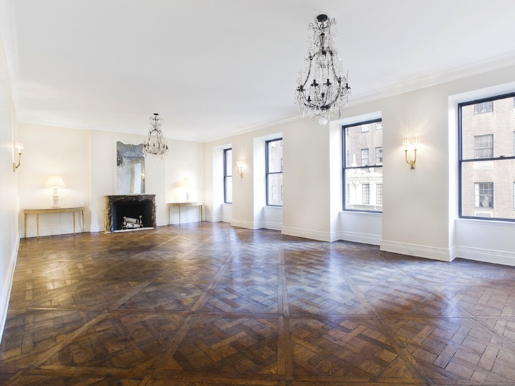 Parquet wood floors traditional living room pricey pads for Avenue u living room