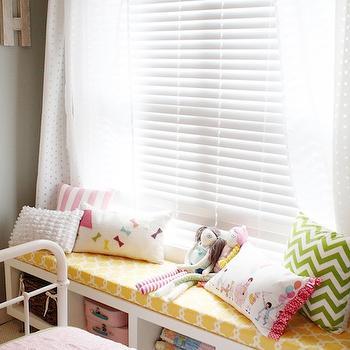 Ikea Lack Shelf Hack, Transitional, girl's room, General Paint Dishwater, Daffodil Design