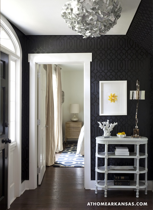Foyer Wallpaper Designs : Kelly wearstler wallpaper contemporary entrance foyer