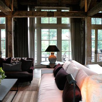 Purple Sofa, Country, living room, M. Elle Design