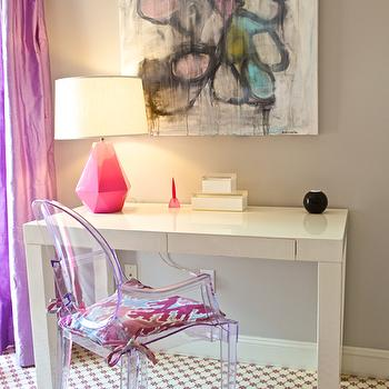Purple Curtains Contemporary Living Room Ralph