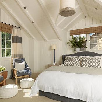 Horizontal Striped Curtains, Cottage, bedroom, M. Elle Design