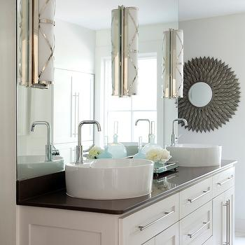 Gray double bathroom vanity design ideas double vanity ideas aloadofball Image collections