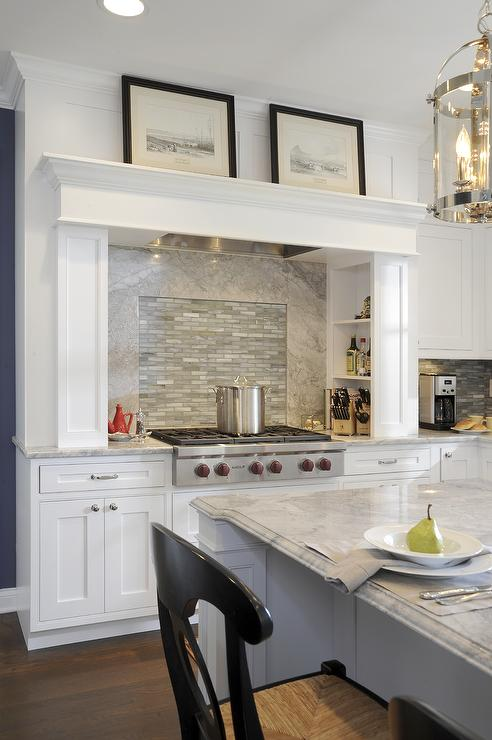Alpine White Granite Transitional Kitchen Sherwin Williams Distance J S Brown Amp Co