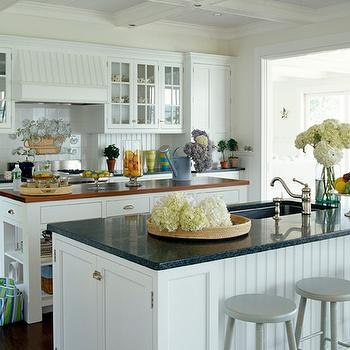 Beadboard Cabinets, Cottage, kitchen, Lynn Morgan Design