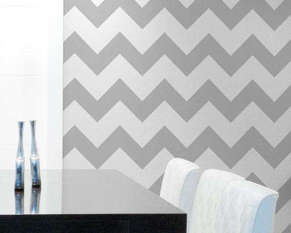 chevron wall stencil large stencil to paint by With chevron template for walls