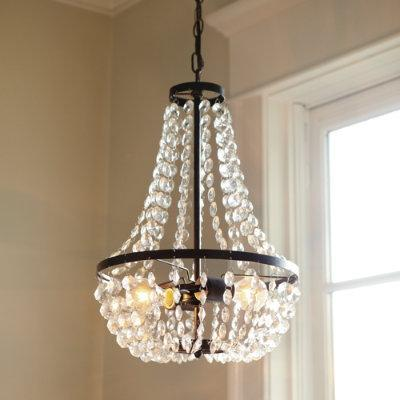 Pottery Barn Mia Faceted Chandelier Look 4 Less