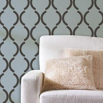 Large Graphic Wall Stencil Deco Damask by royaldesignstencils