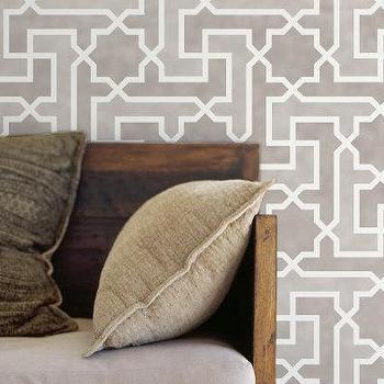 Moroccan Wall Stencil Large Moroccan Key by royaldesignstencils