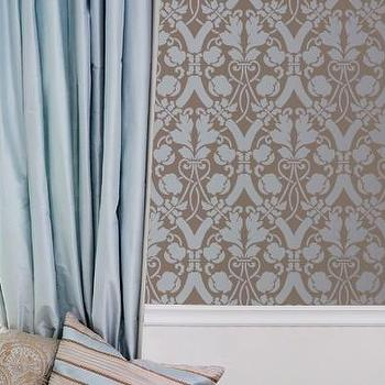 Large Entwined Trellis Stencil for Wall by royaldesignstencils