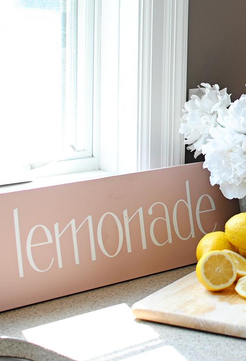 Dear Lillie ���?? Lemonade Sign in Pink