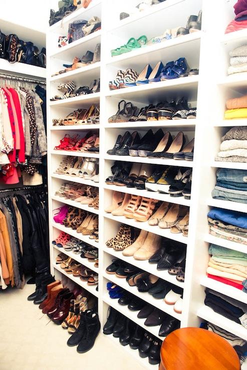 shelves for shoes contemporary closet the coveteur. Black Bedroom Furniture Sets. Home Design Ideas