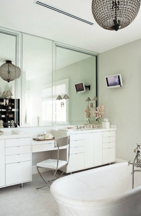 Marble Top Vanity Contemporary Bathroom Nate Berkus