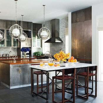Metal Kitchen Cabinets, Eclectic, kitchen, Nate Berkus Design