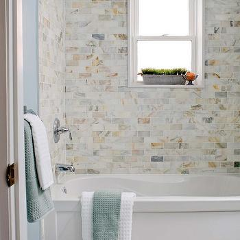 Calcutta Gold Marble Subway Tile, Contemporary, bathroom