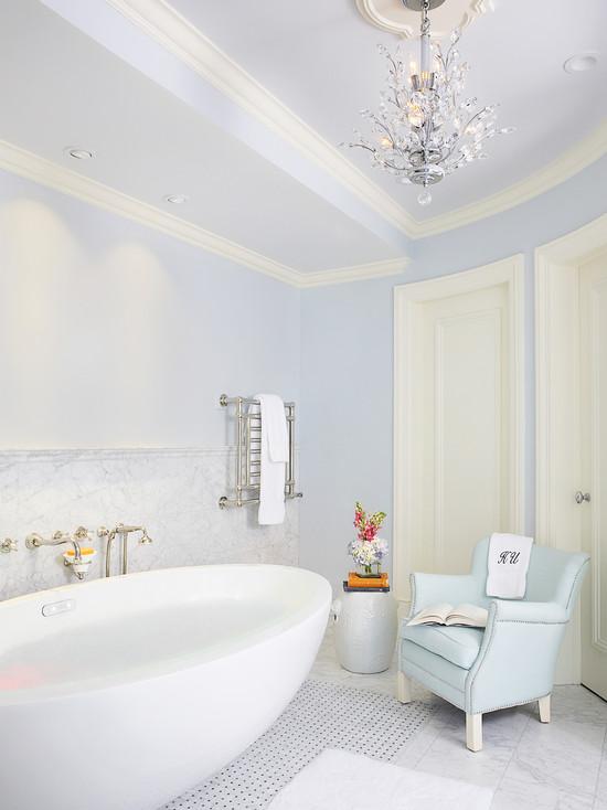 Egg Shaped Bathtub Eclectic Bathroom