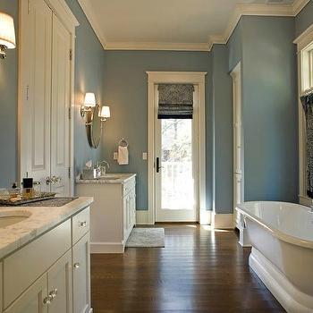 ivory and blue bathroom - transitional - bathroom - mitch