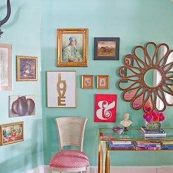 Key Largo Green, Contemporary, den/library/office, Benjamin Moore Key largo Green, Caitlin Wilson Design