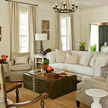 File Cabinet Coffee Table, Cottage, living room, Southern Living