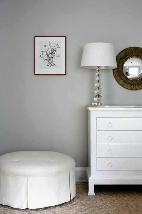 Astounding White Tufted Ottoman Traditional Girls Room Sage Design Machost Co Dining Chair Design Ideas Machostcouk