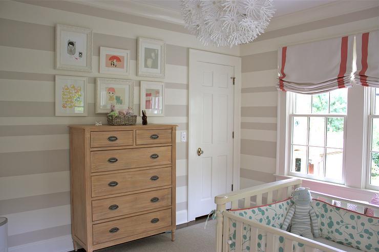 striped nursery walls   transitional   nursery   sherwin