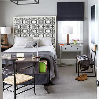 Kelly Wearstler Katana Fabric, Contemporary, boy's room, House Beautiful