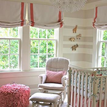Striped Nursery, Transitional, nursery, Sherwin Williams Realist Beige