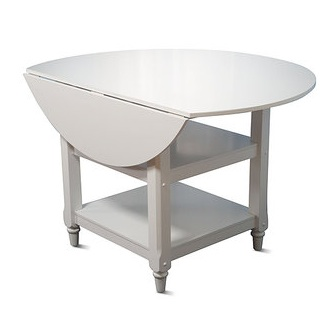 Pottery Barn Shayne Drop-Leaf Table - White Look 4 Less